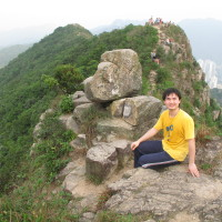 """On the """"lion head"""" of the Lion Rock"""