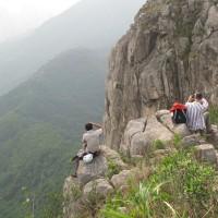 Rock climbing on the Lion Rock
