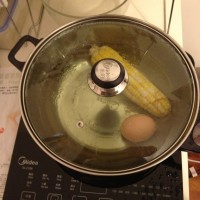 My breakfast - corn and egg
