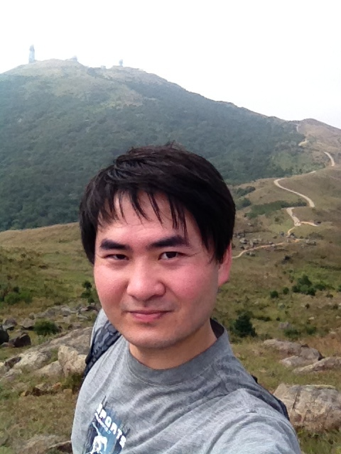 Me, before climbing the summit of Tai Mo Shan